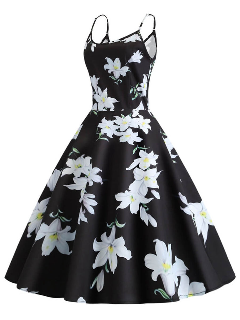 Womens 1950s Vintage Halter Ball Gown Sleeveless Short Dress