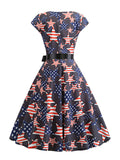 Swing Dress American Flag 1950s Dress