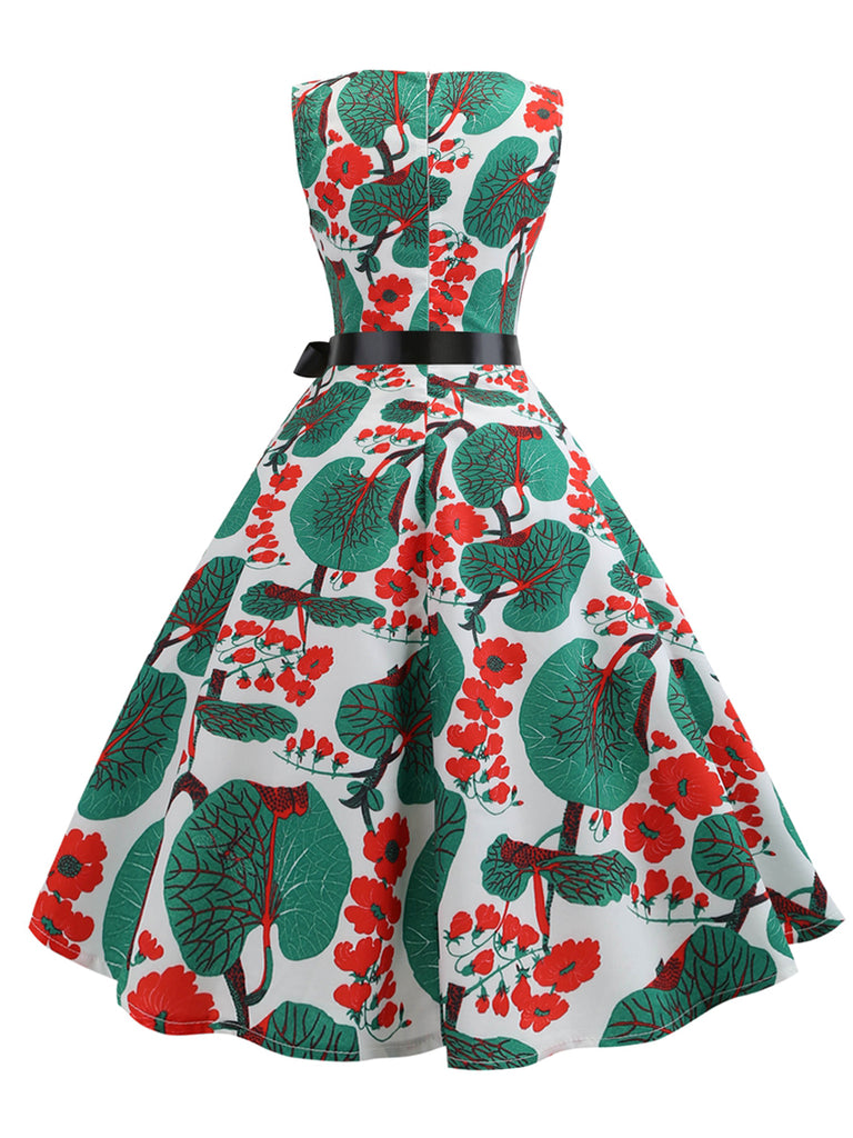 Vintage Dress Sleeveless Aline 1950s Dress