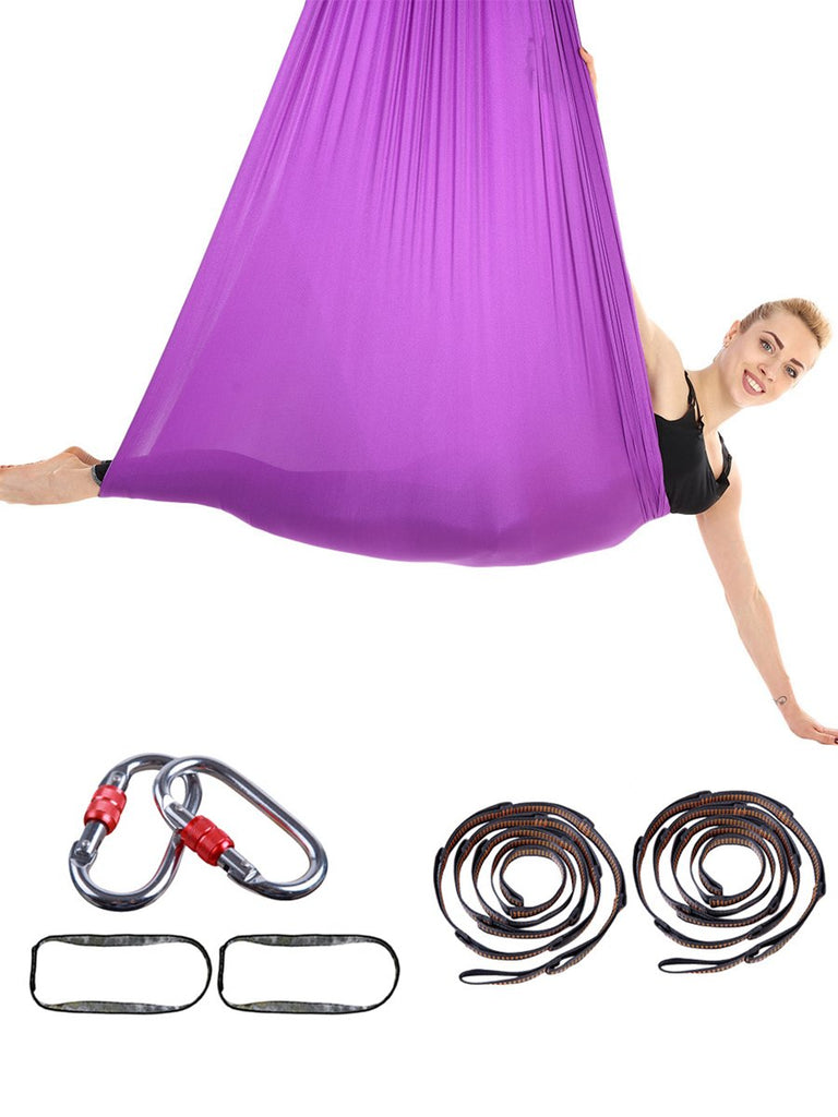 High Stretch Elastic Anti-Gravity Training Yoga Hammock with Belt and Buckle