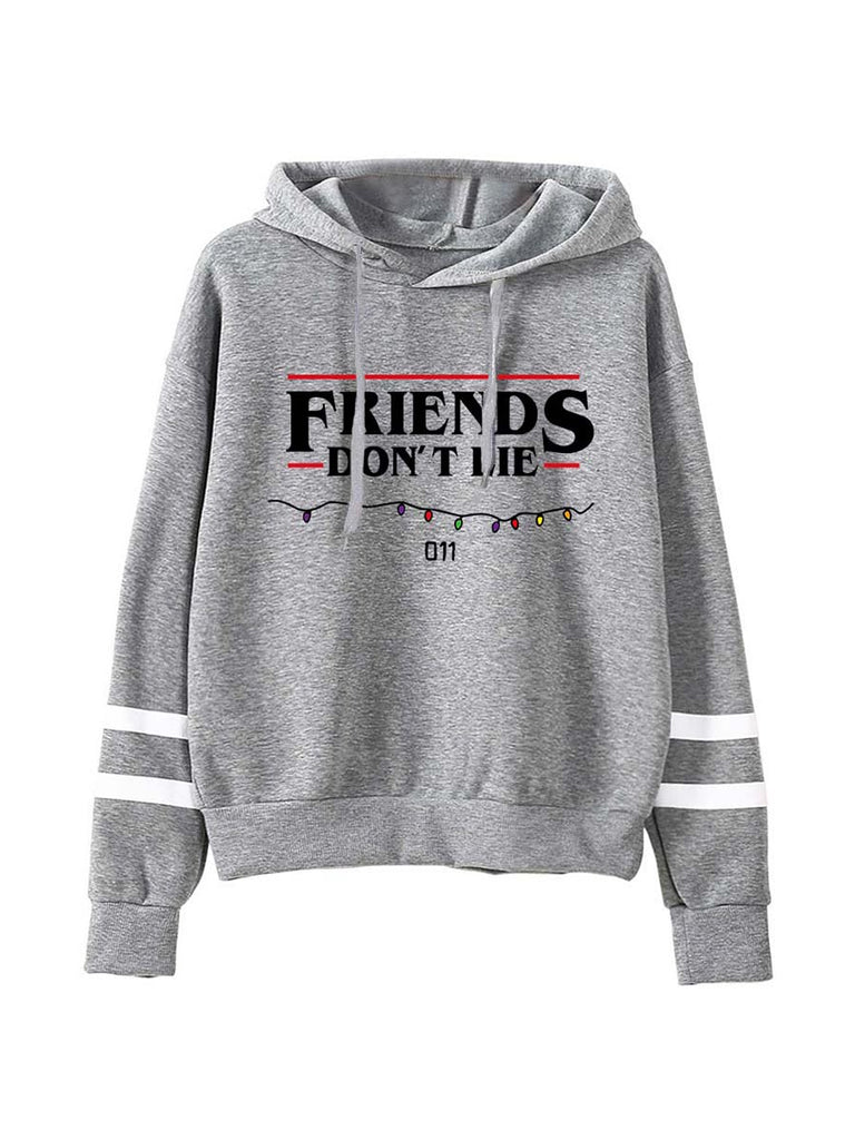 Stranger Things Sweatshirt Friends Don't Lie Print Hoodie Unisex Pullover