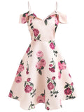 1950s Dress Floral Sweet Ladylike Aline Dress