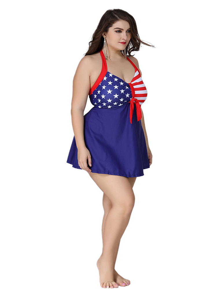 Plus Size Bikini Halter One-piece Swimwear