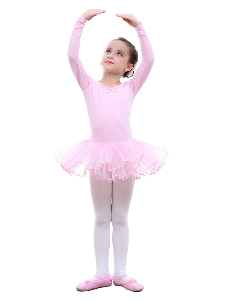 Girls Long Sleeve Ballet Tutu Skirt