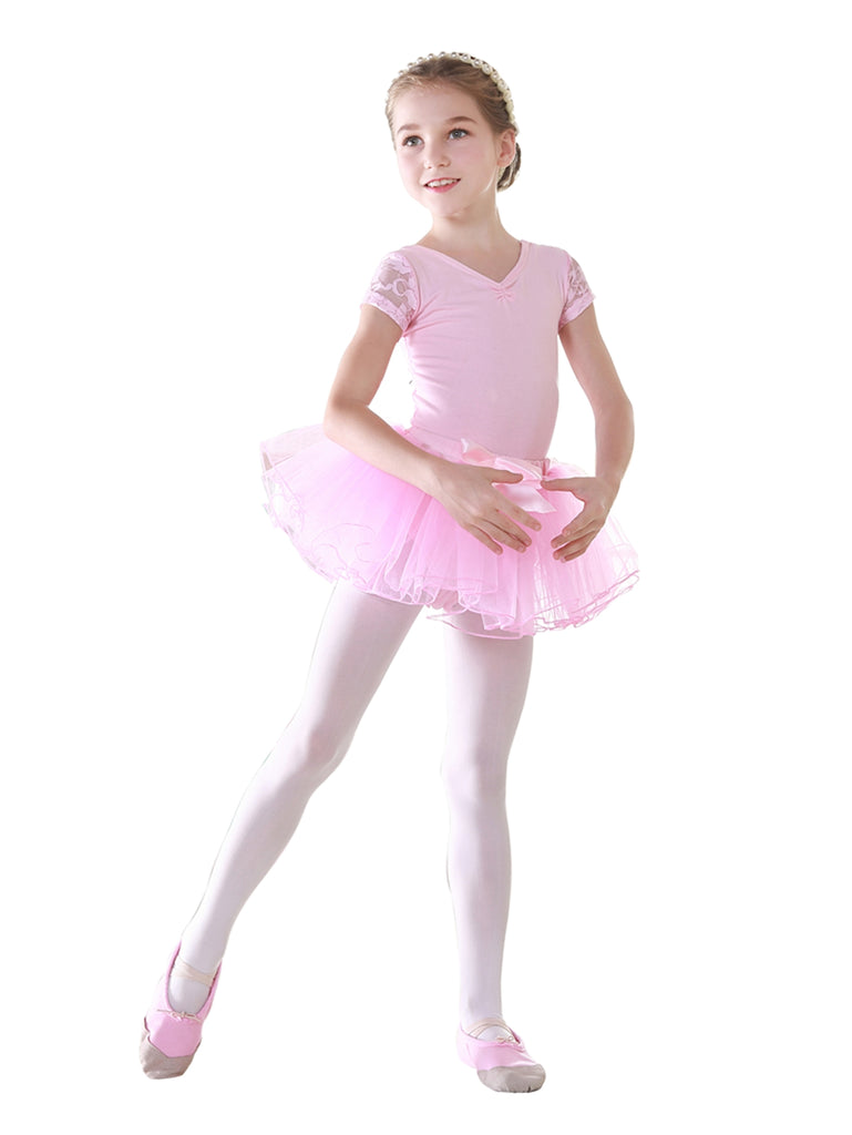 Girls Ballet Leotard And Tutu Skirt