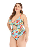 Plus Size Bikini One-piece Hollow Out Sweet Swimwear