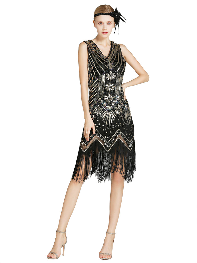 Women's Fringe Latin Dresses With Sequin
