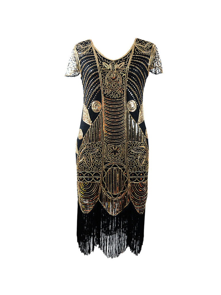Gatsby Style Dress Vintage Sequined Bodycon Dress