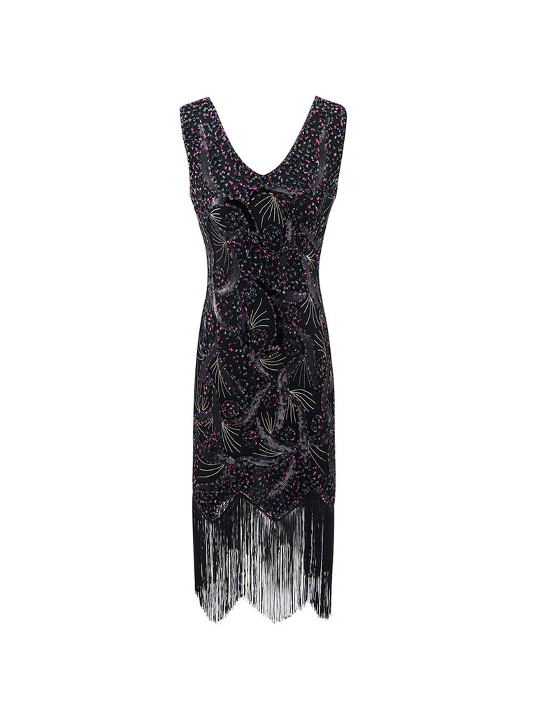 Tassel Dress Vintage Beading Fringed Long Dress