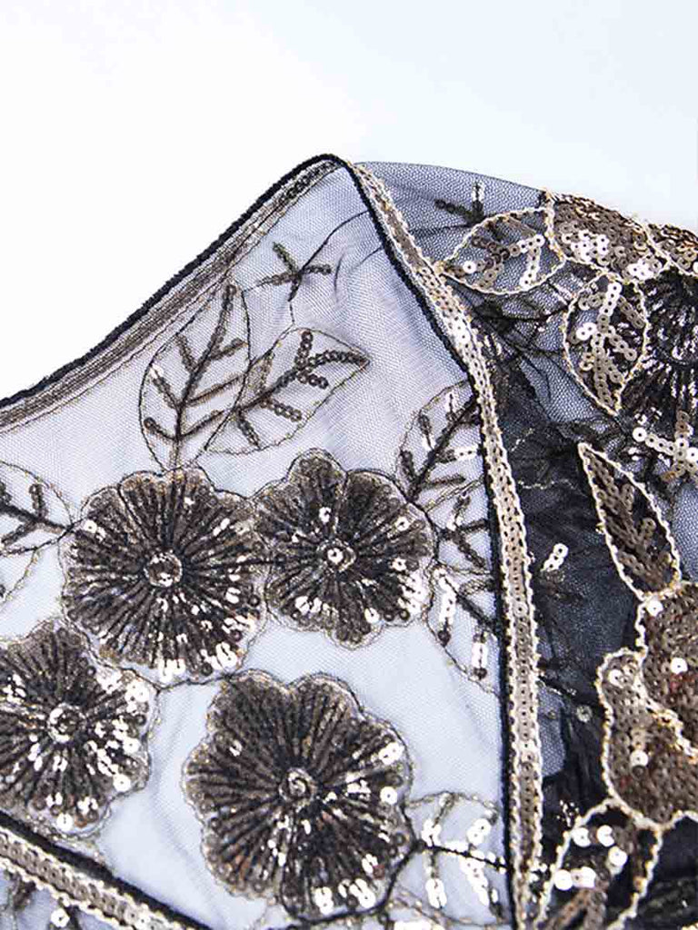 1920s Shawl Vintage Wraps Sequin Beaded Evening Cape