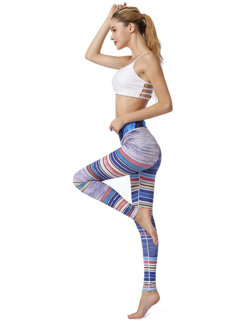 High Waist Digital Printed  Stretch Yoga Leggings