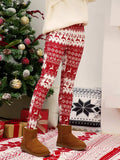 Christmas Trouser Multicolor Printed Slim Tights