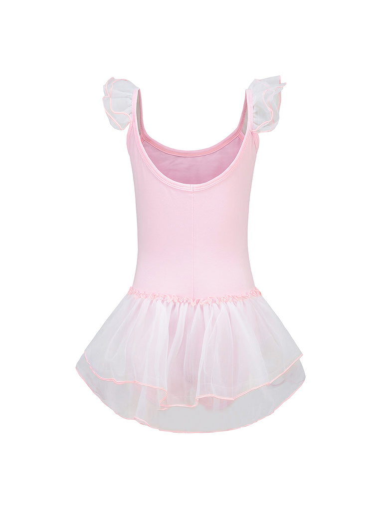 Girls Sleeveless O Neck Ballet Leotard Tutu Dress
