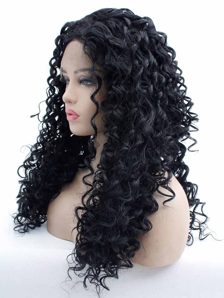 Black Small Volume Hook Wig