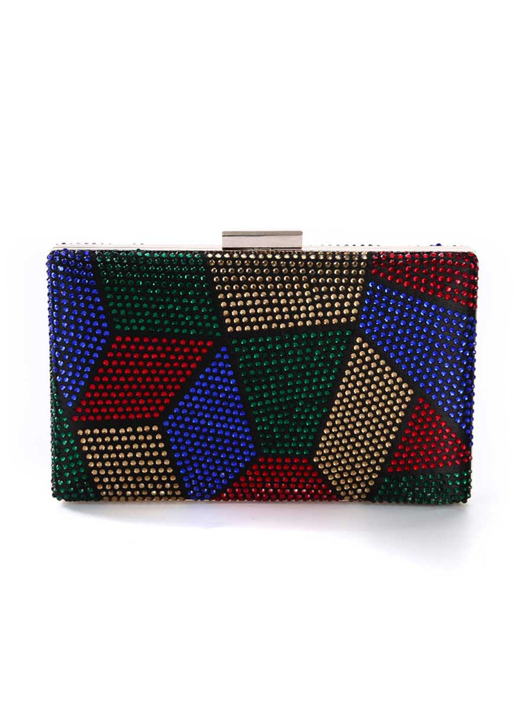 Vintage Party Rhinestone Clutch Bag