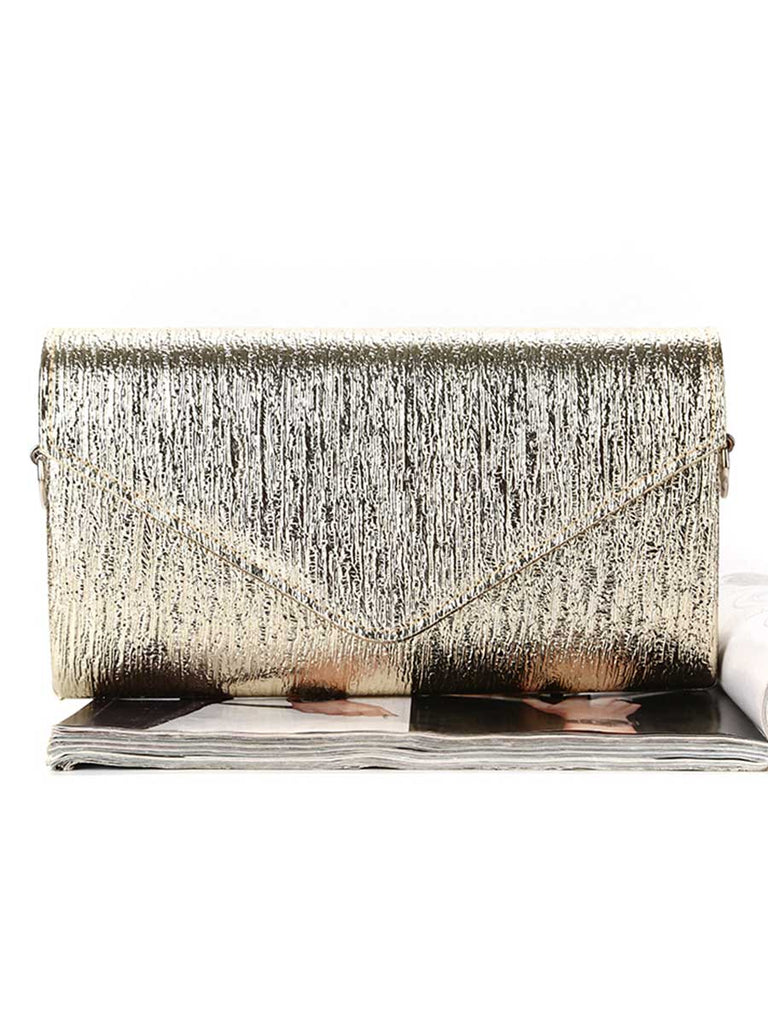 Banquet Bag Shiny Flip Clutch Chain Shoulder Bag