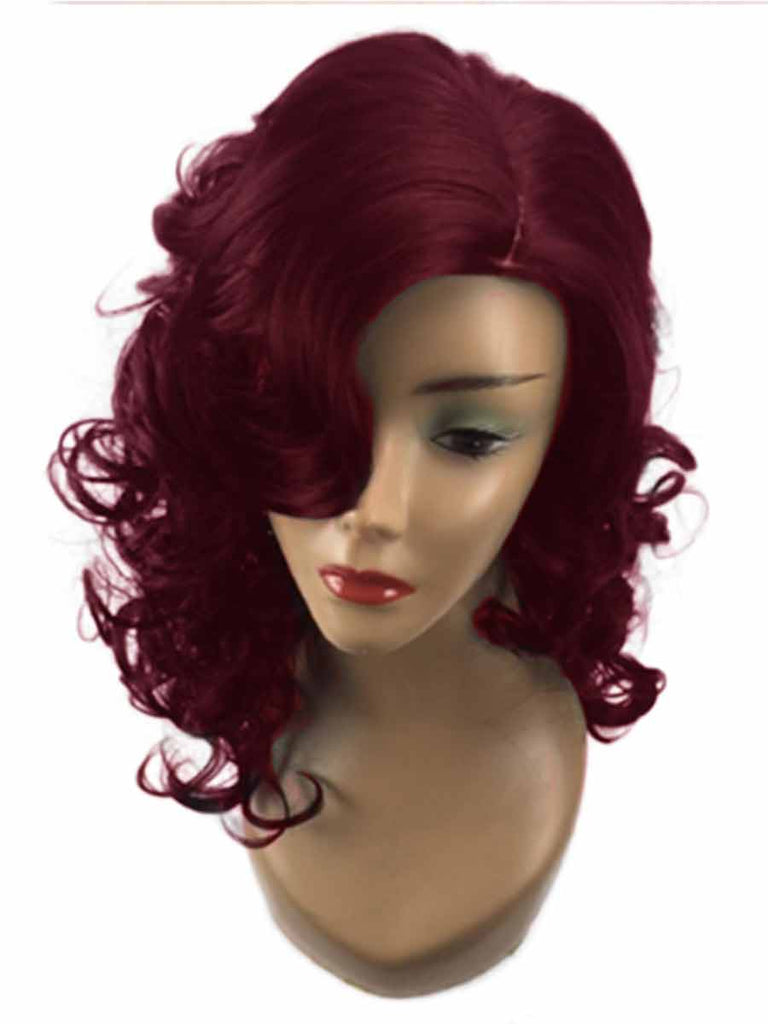 Ladies Short Curly Rose Net Wig Cover