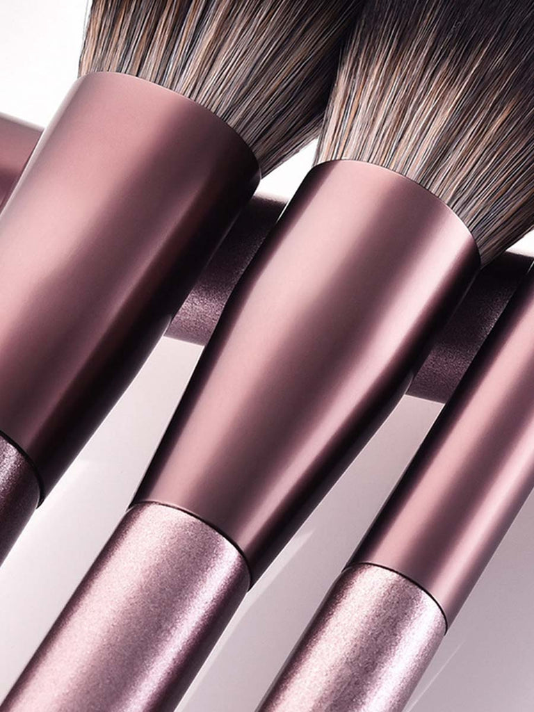 Cosmetic Tool Set Champagne Gold 12 Pcs Makeup Brushes