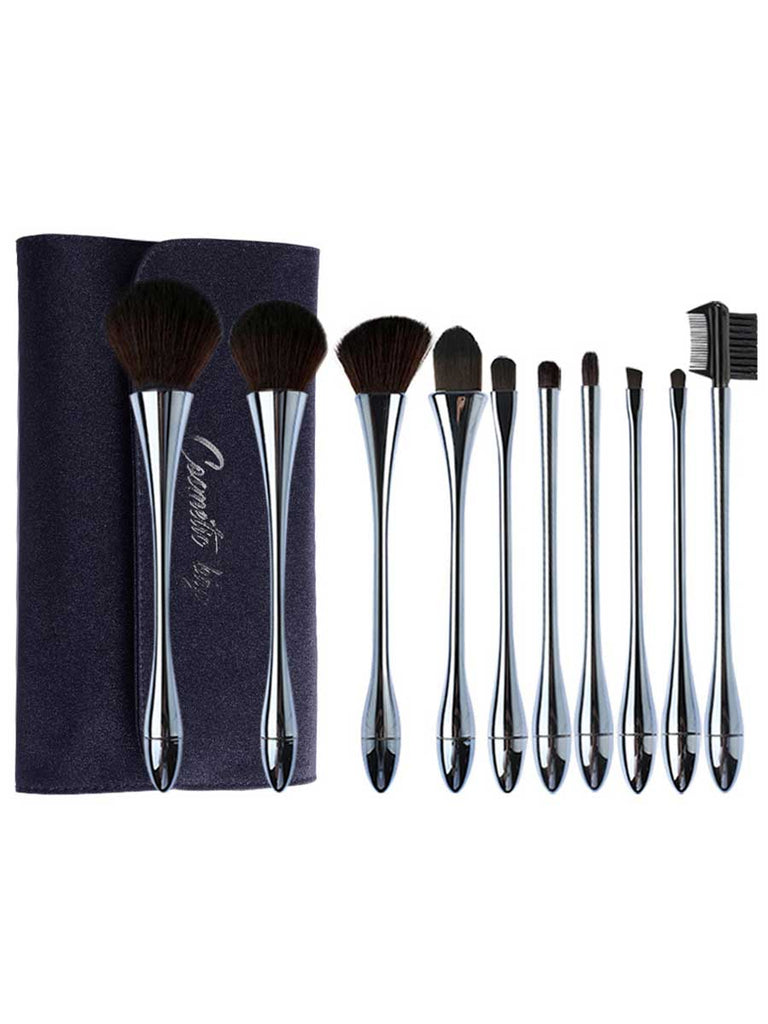 Beauty Tools 10 Pcs Small Waist Goblet-shape Makeup Brushes Set