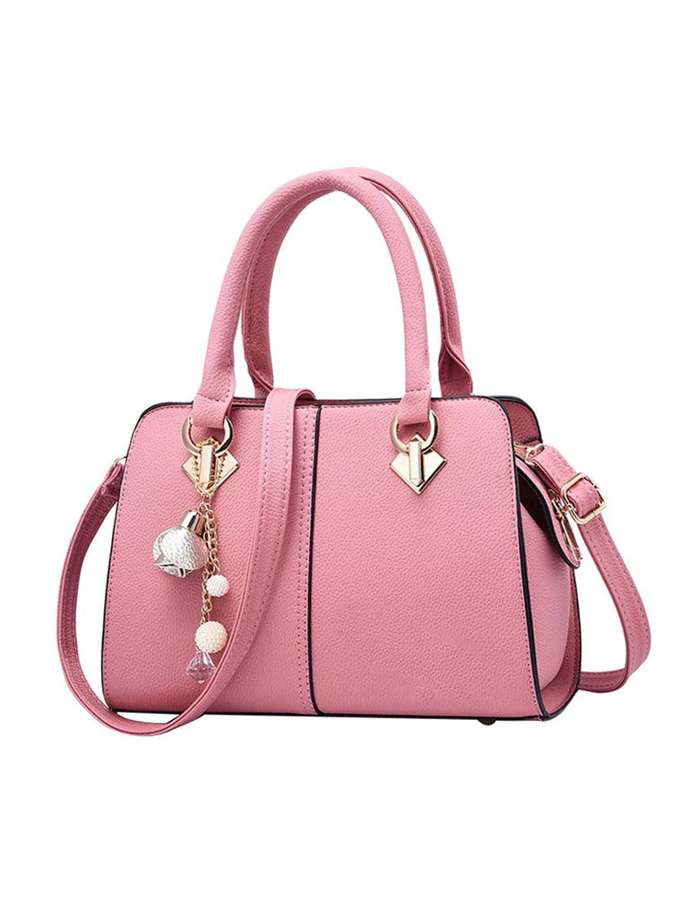 Women Handbag Solid Color Boston Bag