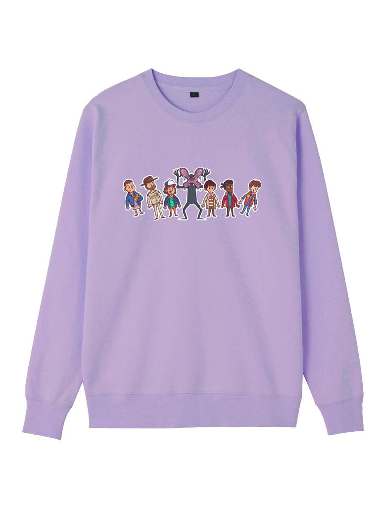 Stranger Things Sweatershirt Cartoon Character Print Pullover