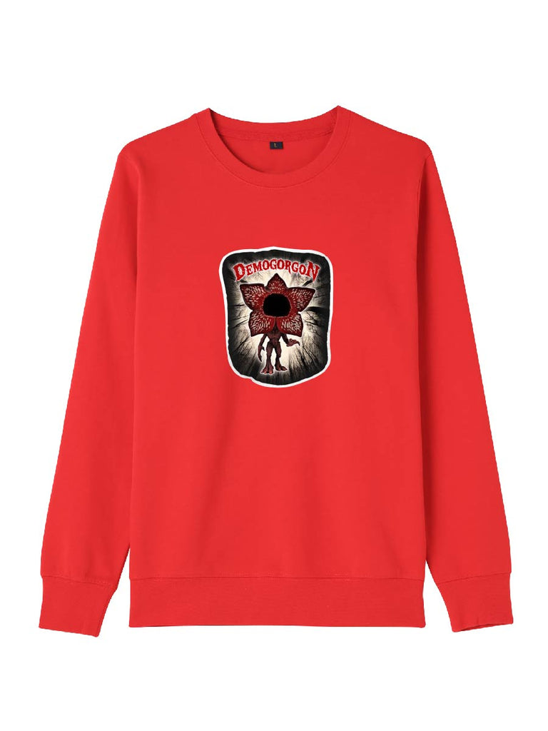 Stranger Things Clothes Demogorgon Cartoon Print Sweatershirt