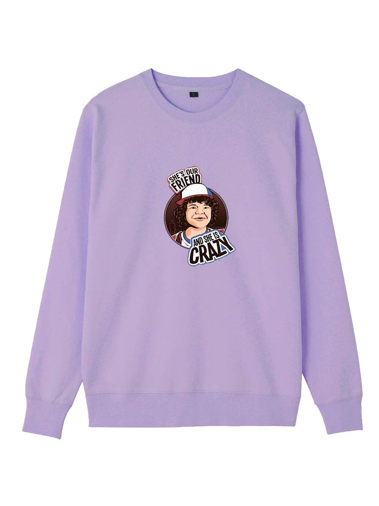 Stranger Things Clothes Cartoon Dustin Henderson Printing Sweatershirt