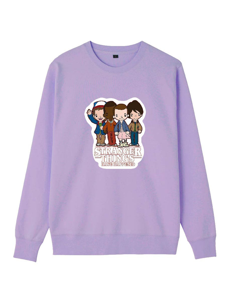 Stranger Things Clothes Quad Team Cartoon Pullover