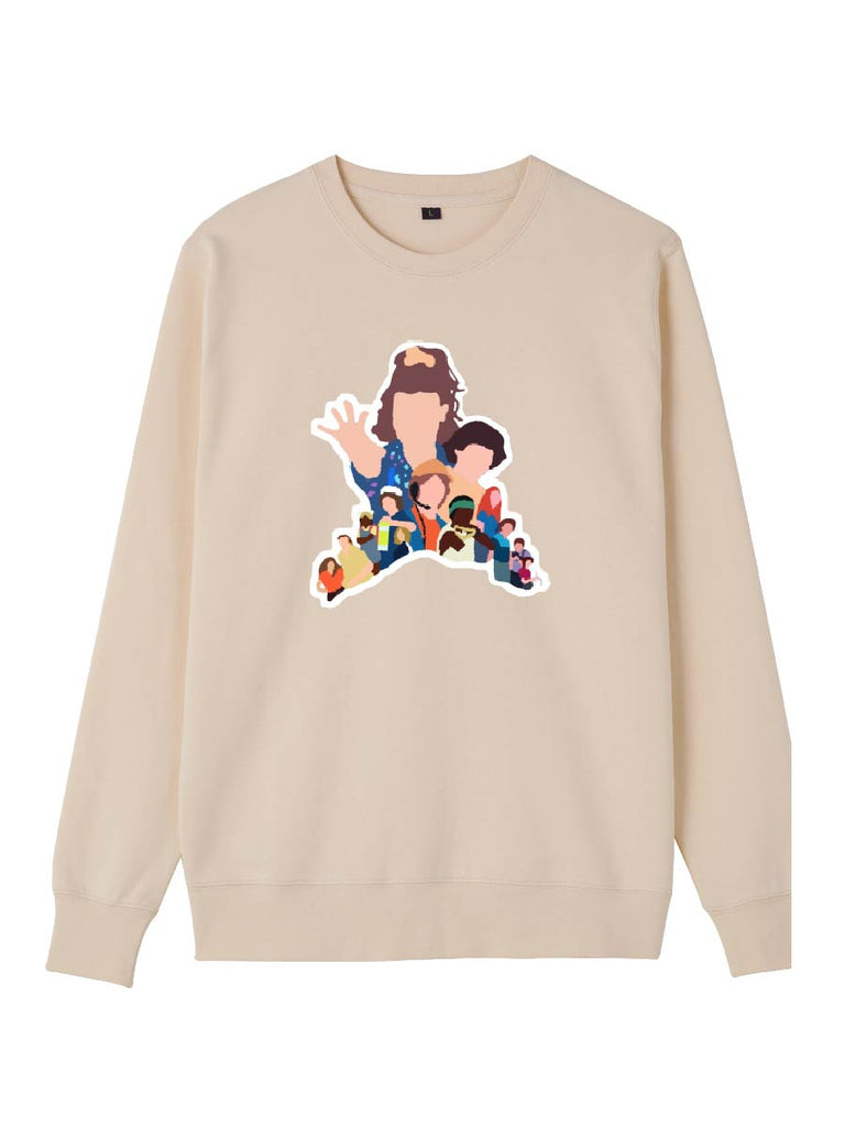 Thickened Stranger Things Clothes Faceless Cartoon Pattern Sweatershirt