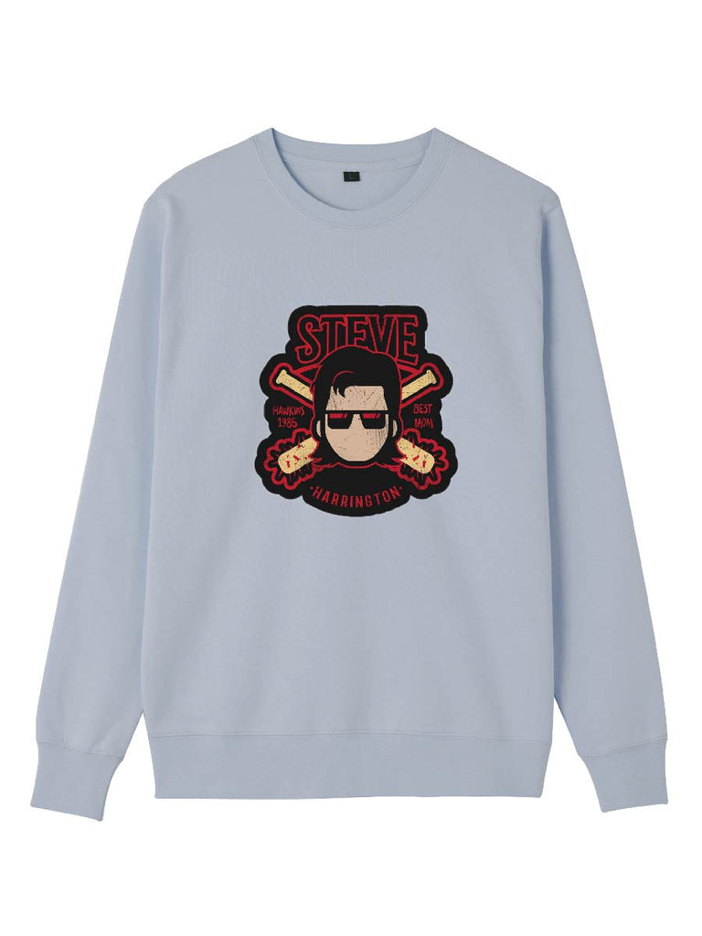 Stranger Things Series Steve Cartoon Print Sweatershirt