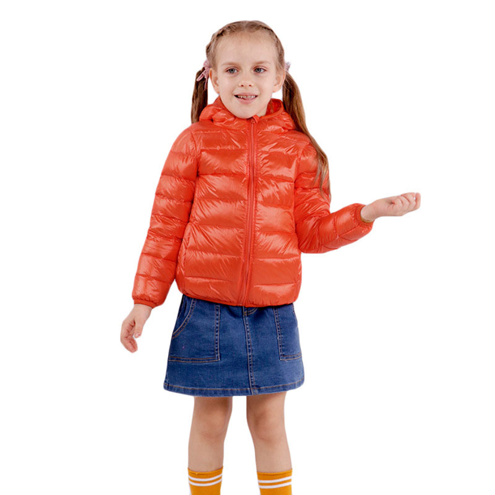 Girls Lightweight Coat Elastic Cuffs Padded Water Resistant Outwear