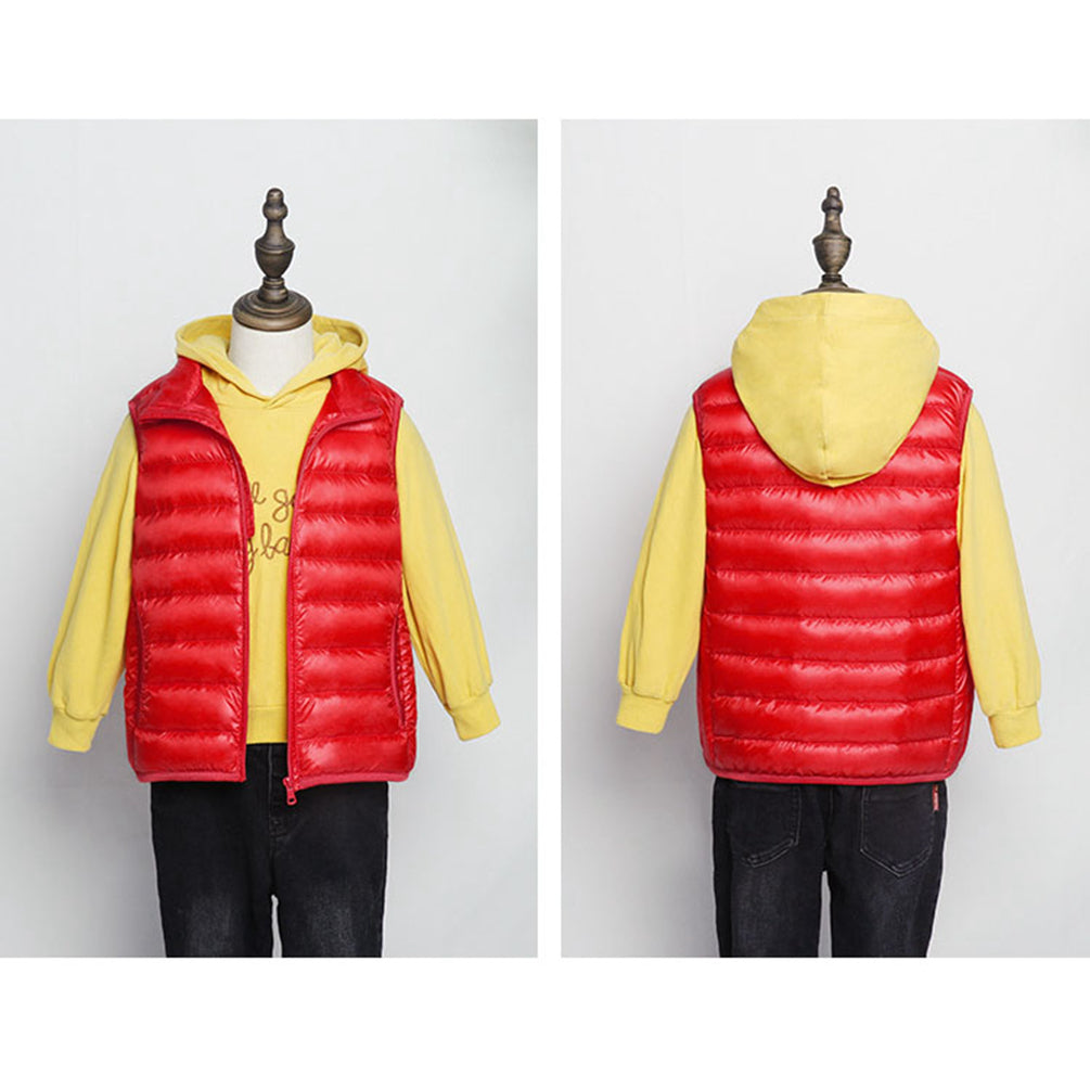 Kids Candy Colours Coat Packable Ultralight Stand Collar Gilet