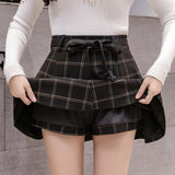 High Waist Skirt Casual Flare Pleated Mini Skirt