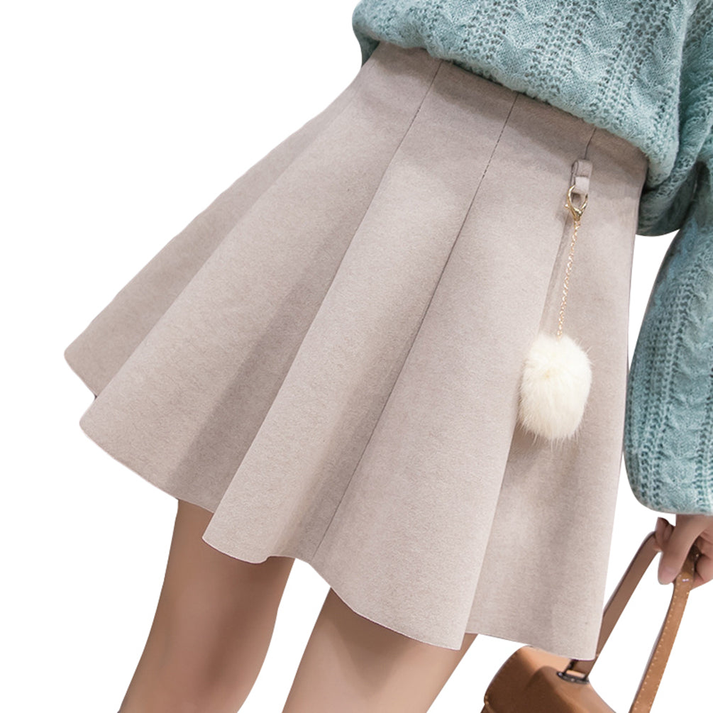 High Waist Skirt  Casual Slim A-Line Pleated Short Skirt