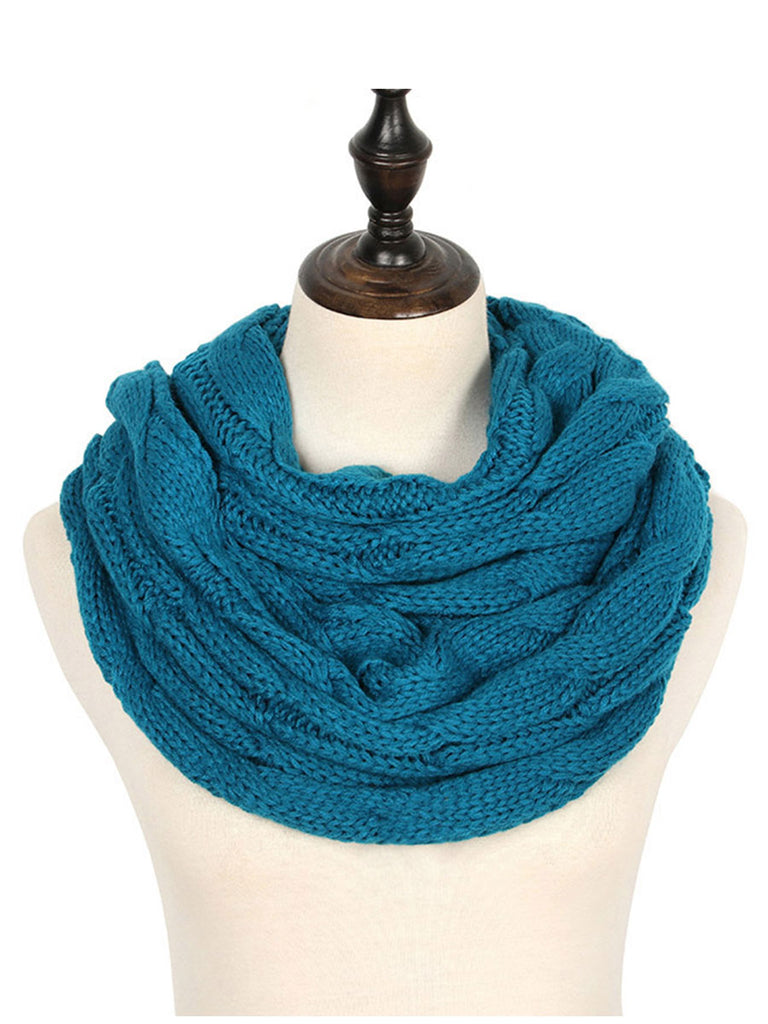 Warm Winter Scarf Fashion Knitted Circle Ring Scarf