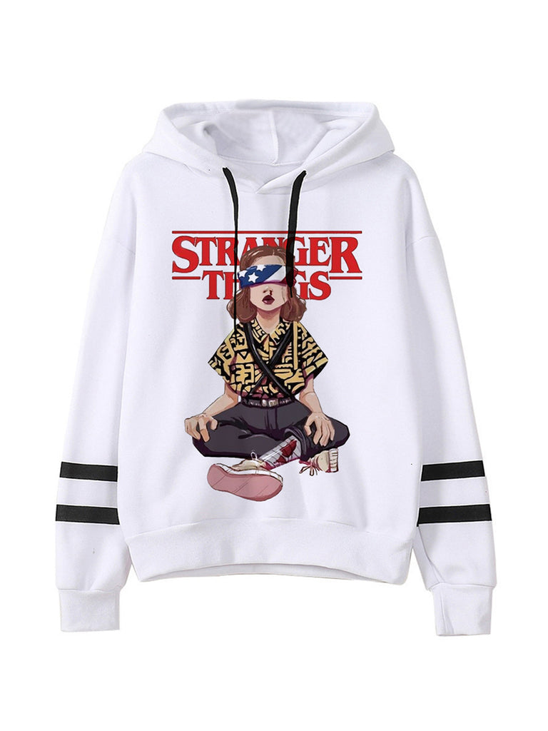 Stranger Things Season 3 Harajuku Eleven Elf Upside Down Funny 90s Graphic Fashion Hoody