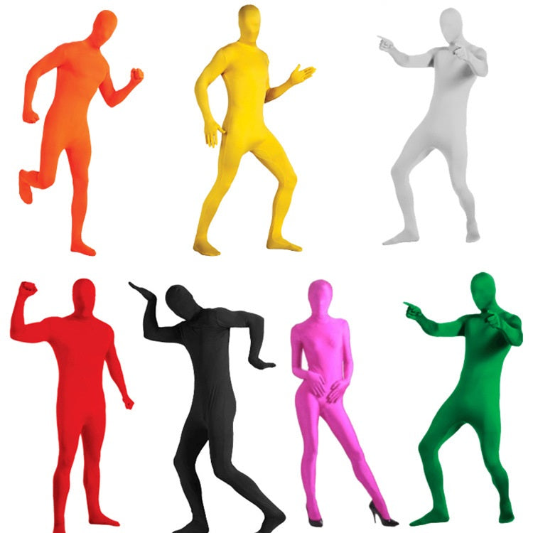 Halloween Costume Cosplay Ninja Adult Invisible Shirt Men's And Women's Tights