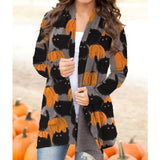 Women's Cardigan Halloween Elements Long-sleeved Sweater Outwear
