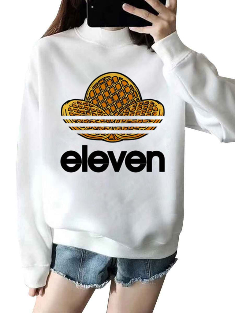 Stranger Things Sweatshirt Turtleneck Cartoon Print Top
