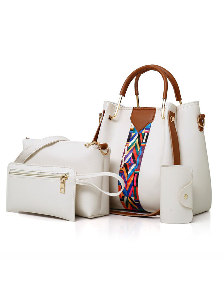 Fashion Handbags 4 Pcs Set Female Large Capacity Composite Bag