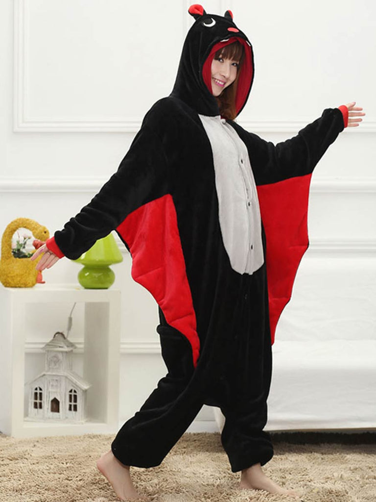 Animal Jumpsuit Winter Warm Bat Pajamas