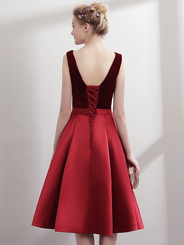 Womens Prom Dress Backless V Neck Cocktail Dress