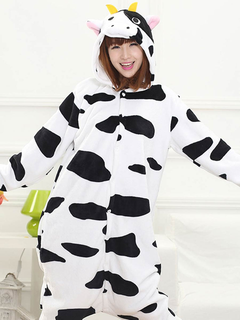 Cow Cartoon Pajama Animal Onesie For Adults