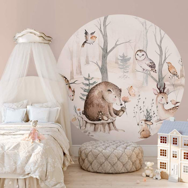 FOREST ANIMAL FRIENDS - WALL MURAL