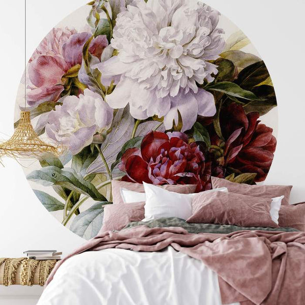 BOUQUET OF PEONIES - WALL MURAL