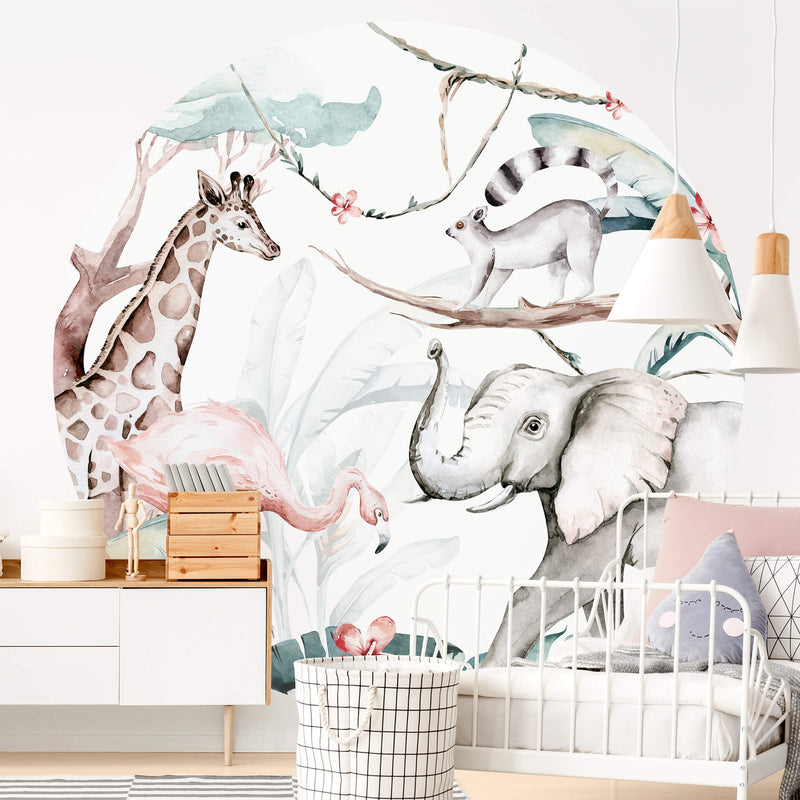 Jungle Animal Friends - Wall Mural 5523