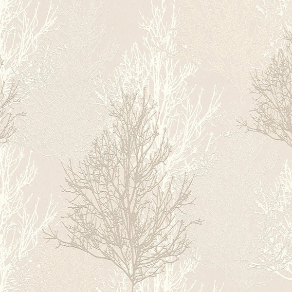 Adelaide white/Silver Tree wallpaper - 348191