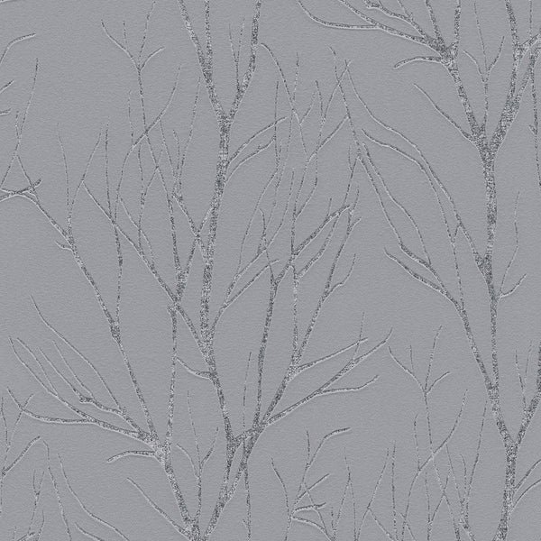 blooming grey/silver tree wallpaper- 372601