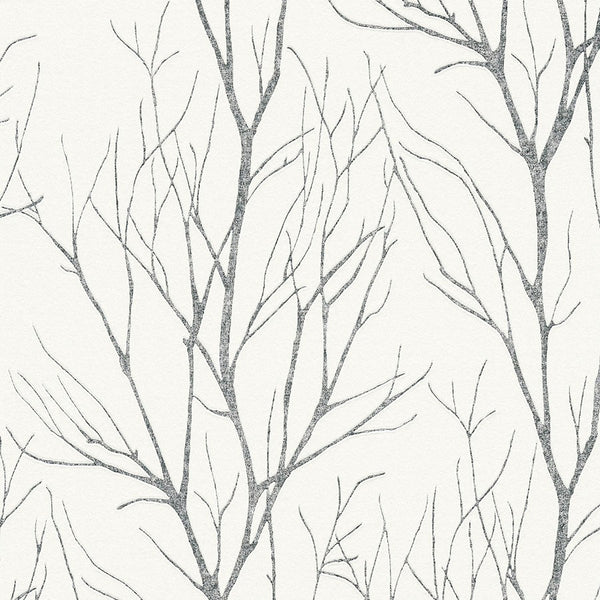 blooming white/silver tree wallpaper- 372604