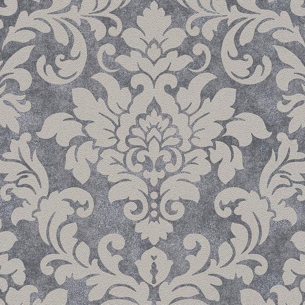 Diamonds damask silver glitter wallpaper - 372701
